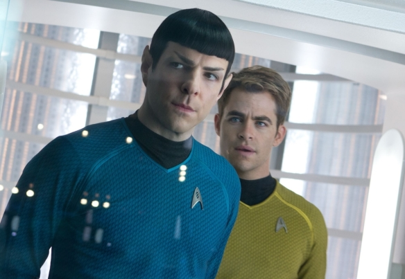 Star Trek Into Darkness aims to be the second greatest story about star-crossed lovers ever told.
